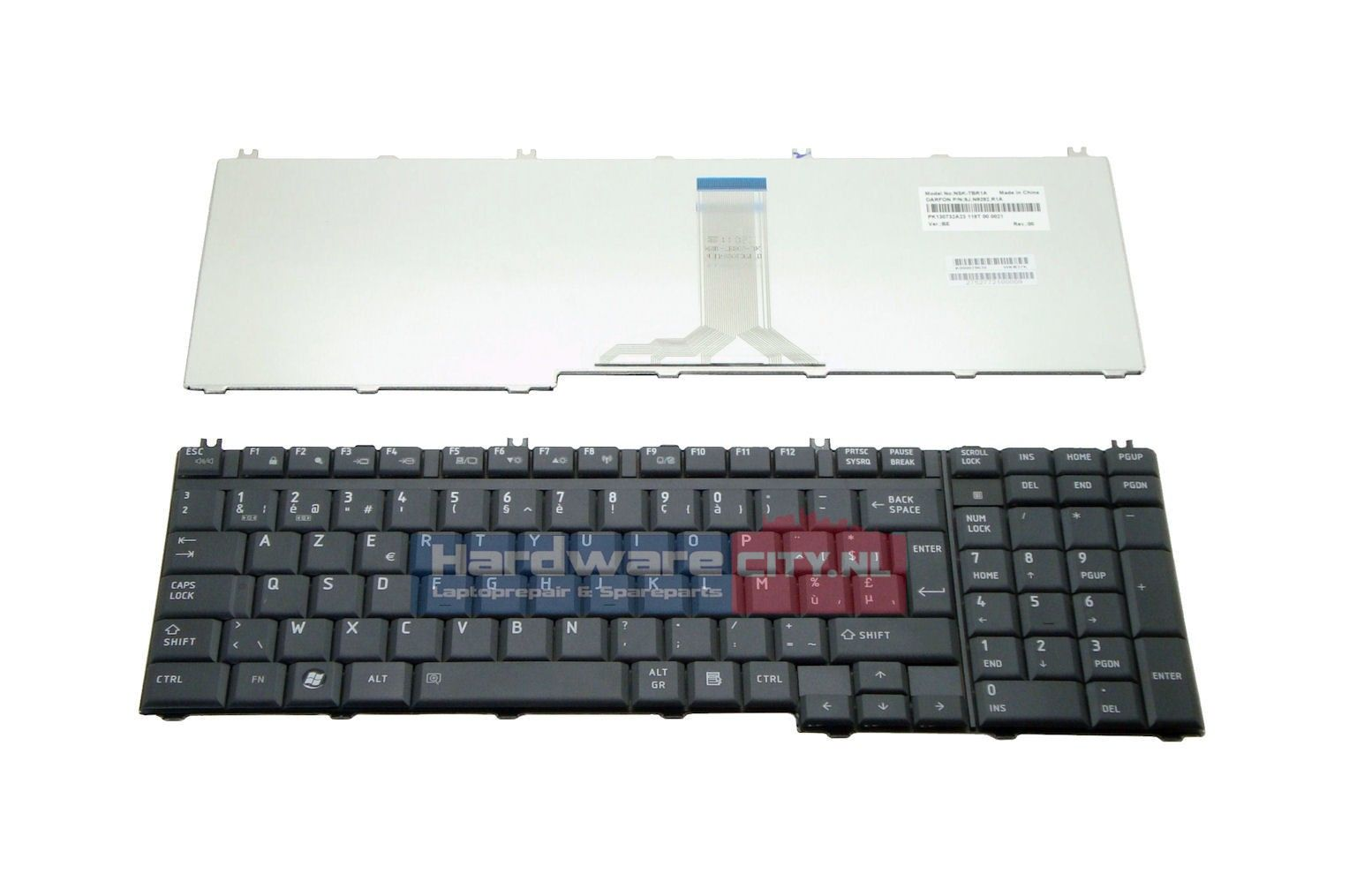 Toshiba BE keyboard (mat zwart)