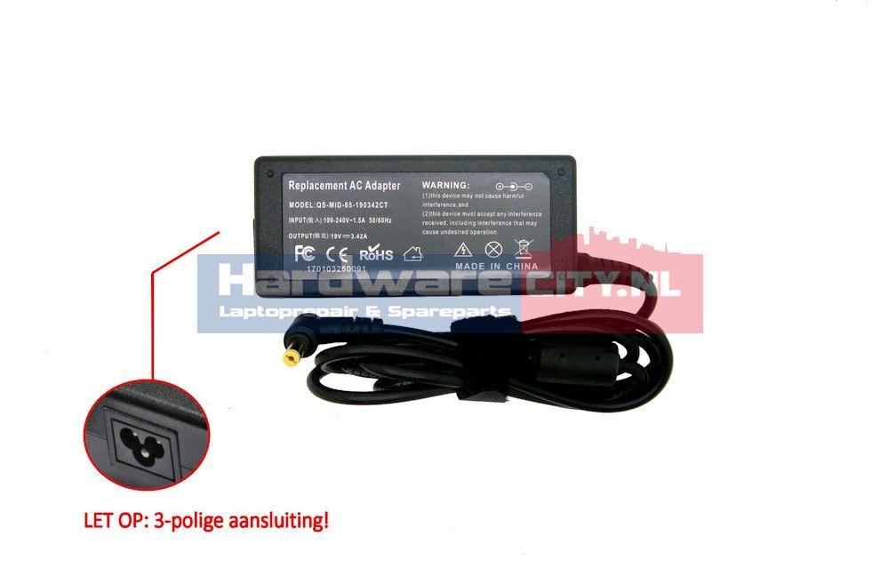 Packard Bell AC Adapter 19V 3.42A 65W (5.5 x 1.7mm)