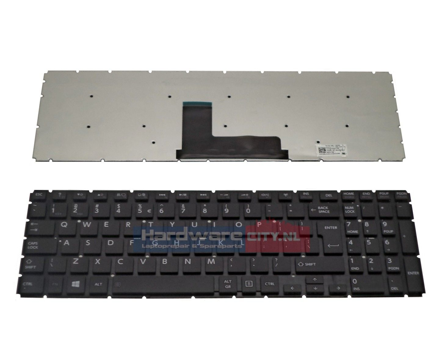 Toshiba Satellite L50-B/ L50D-B US keyboard (zwart)