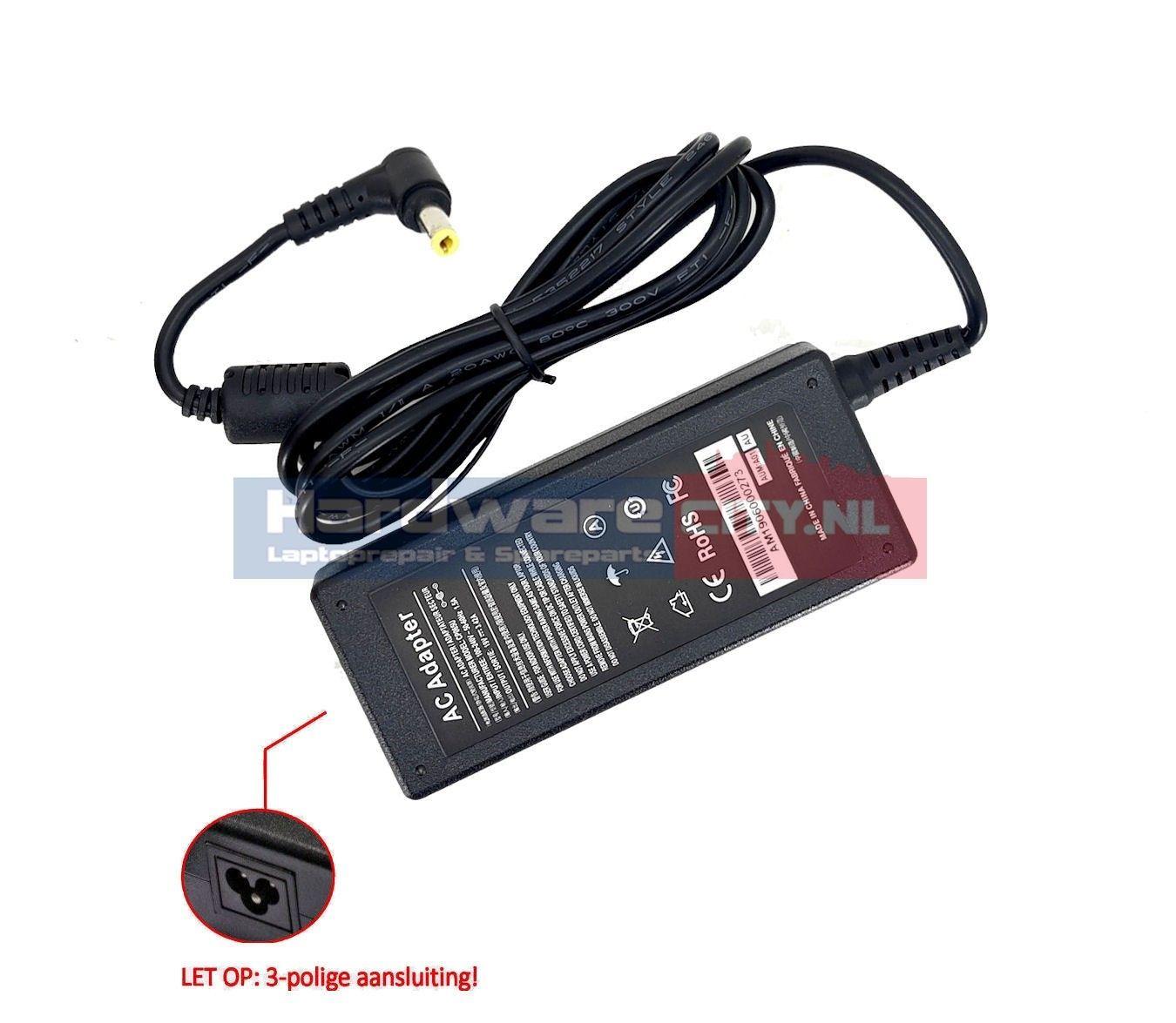 Packard Bell AC Adapter 19V 3.42A 65W (5.5 x 2.5mm)