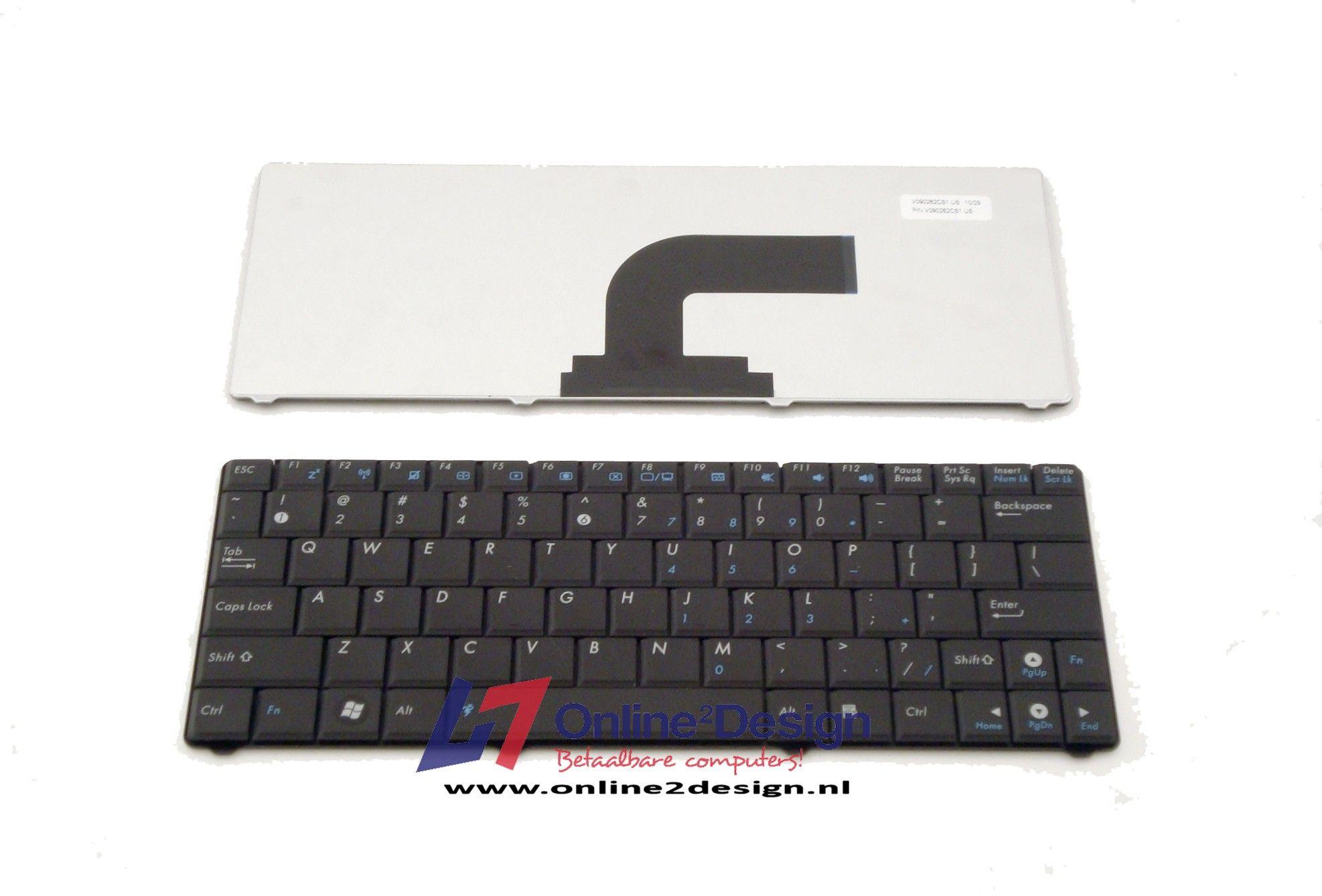 Asus N10 US keyboard (zwart)