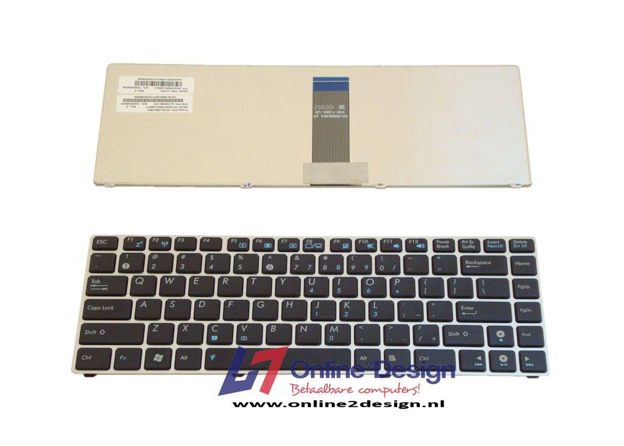 Asus UL20/EEE PC 1200 series US keyboard (zilver frame)
