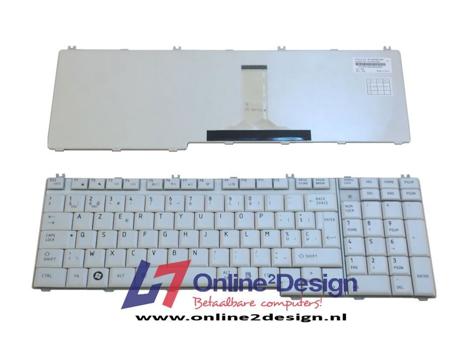 Toshiba BE keyboard (zilver)