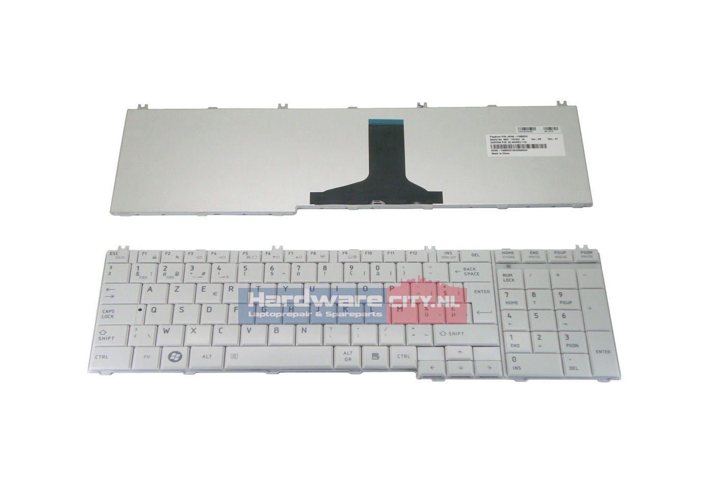Toshiba Satellite C650/L650/L670 BE keyboard (glossy wit)