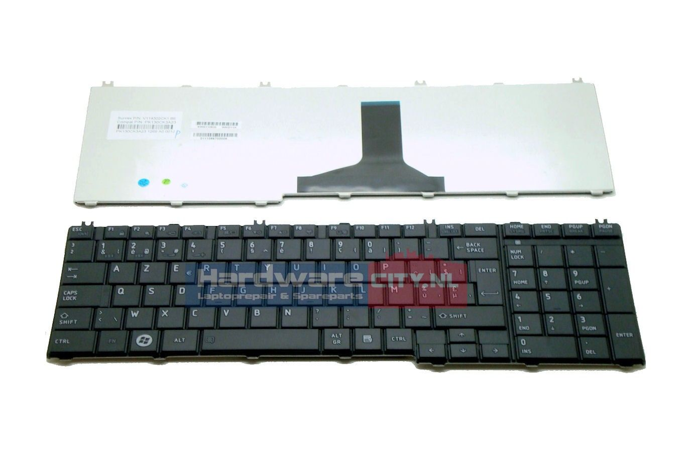 Toshiba Satellite C650/L650/L670 BE keyboard (mat zwart)