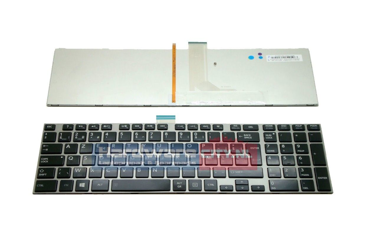 Toshiba Satellite P855/ P870 BE backlit keyboard (zilver frame)